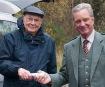 Alan Day received a commemorative scroll - the Three Lochs Way was his brainchild